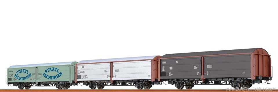 Brawa 48951 Sliding Wall Cars Hbis 297 and 299 'Staatl. F