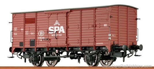 Brawa 49025 Covered Freight Car G 10 Spa Monopole SNCB