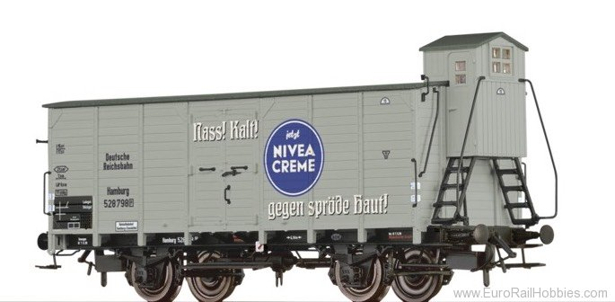 "Brawa 49032 Covered Freight Car G10 ""Nivea"" DRG"