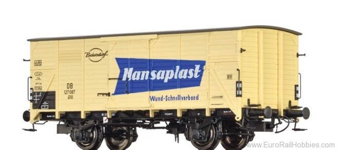 "Brawa 49035 Covered Freight Car G10 ""Hansaplast�"