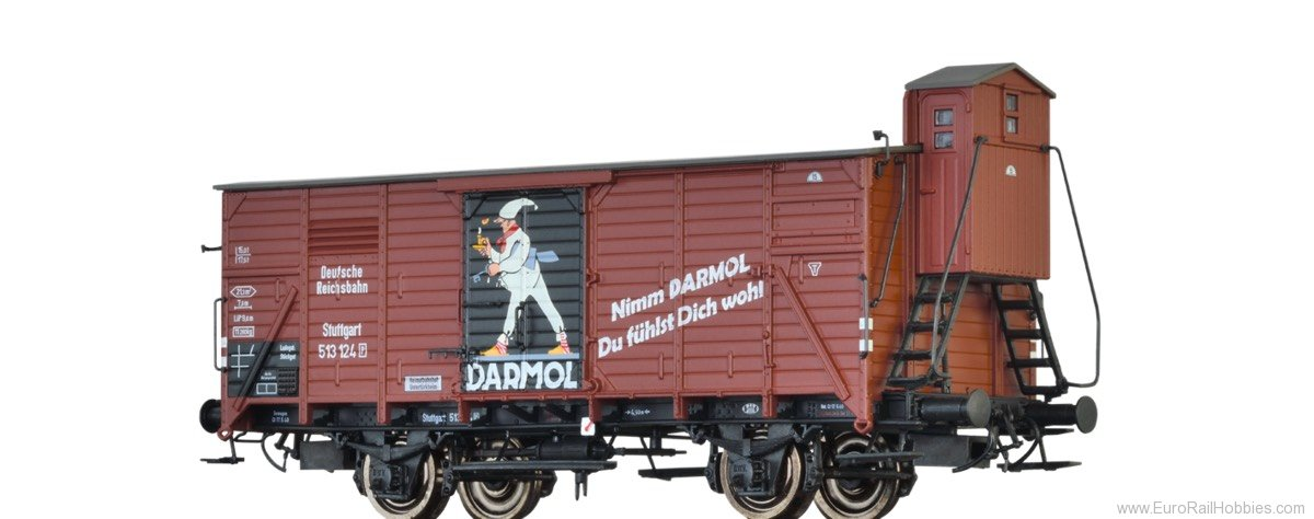 Brawa 49049 Covered Freight Car G10 'DARMOL' DRG