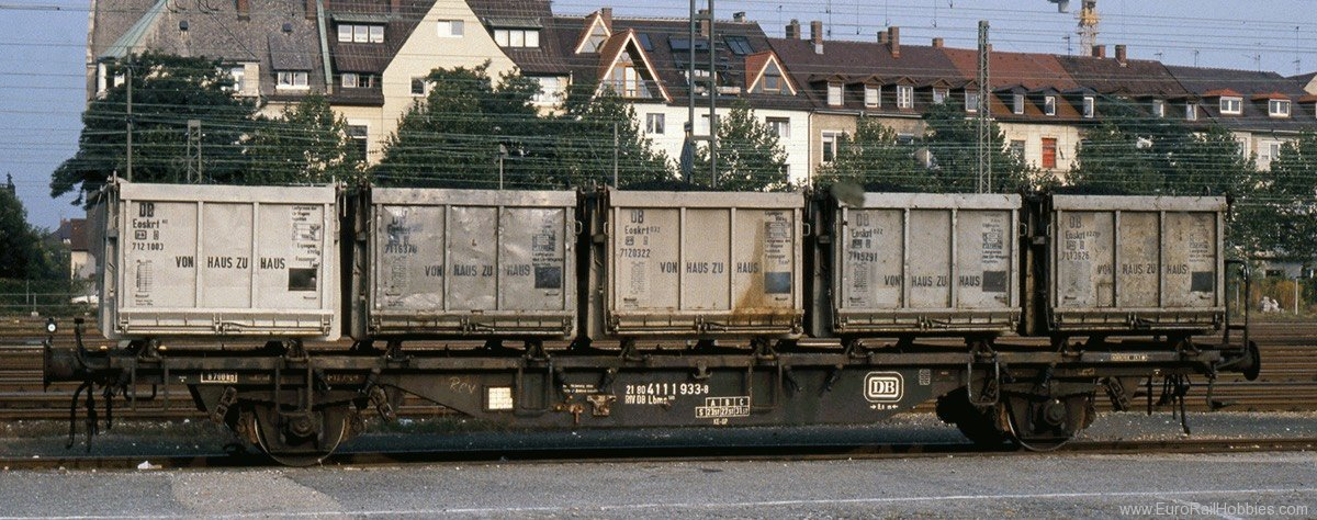 Brawa 49126 Container Car Lbms 589 DB, with Eoskrt022 'Vo