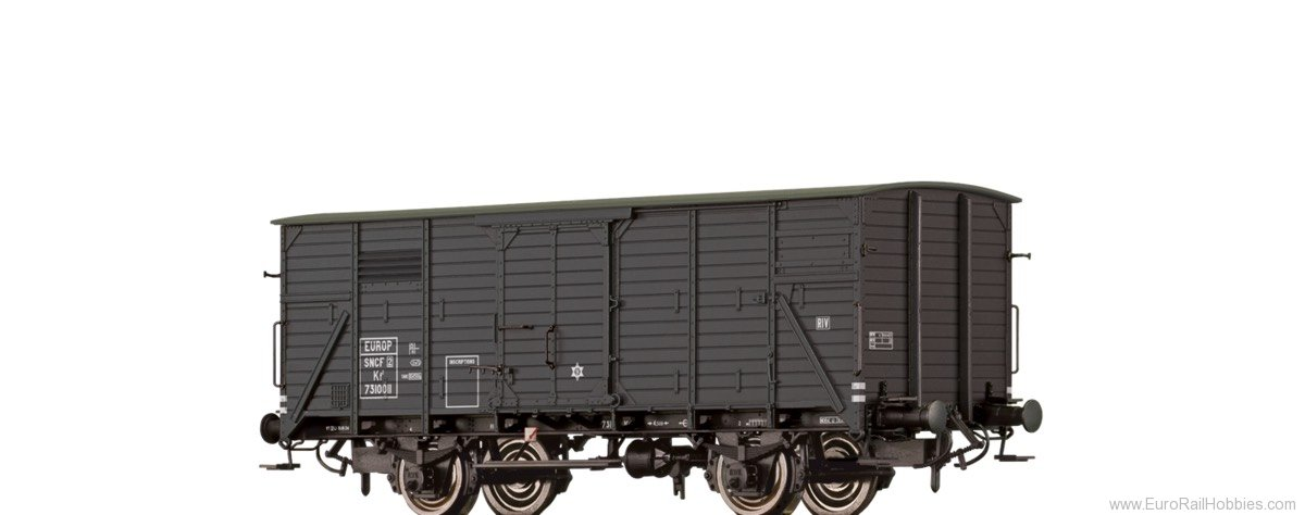 Brawa 49726 Covered Freight Car Kf2 SNCF