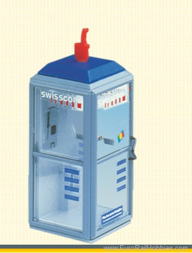 Brawa 5449 Swisscom Telephone Box, illuminated