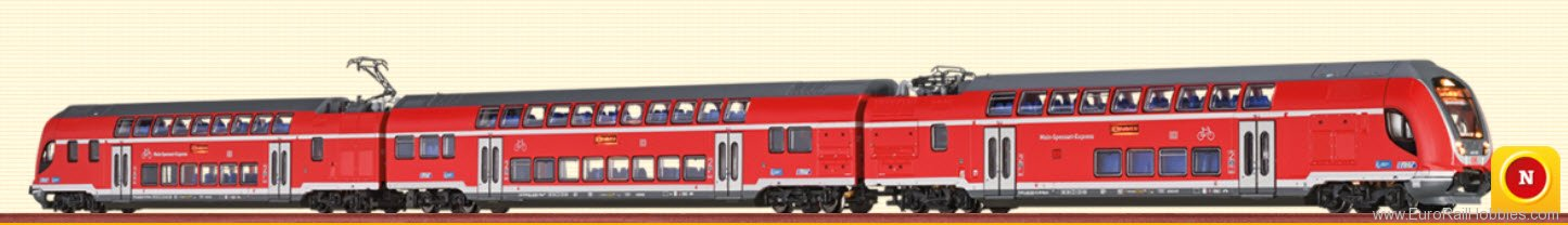 Brawa 64502 TWINDEXX Vario Double-Deck Train DB AG, 3-uni