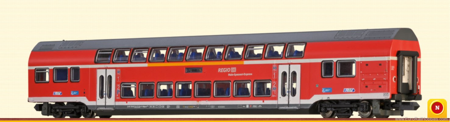 Brawa 64503 TWINDEXX Vario Double-Deck Middle Wagon 2nd C