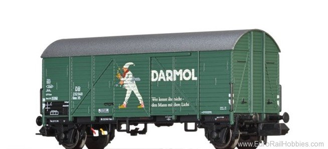 "Brawa 67312 Covered Freight Car Gms 35 ""Darmol"""