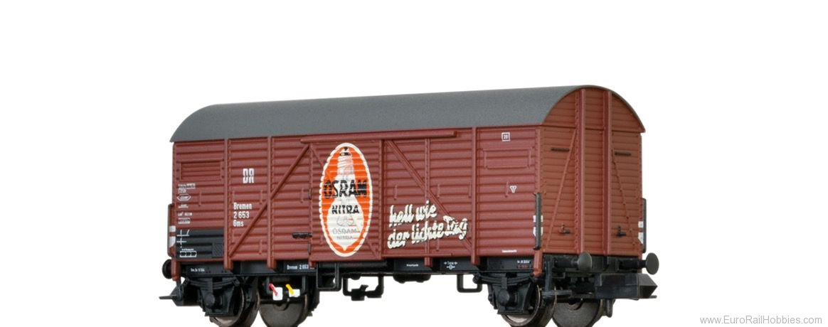 Brawa 67316 Covered Freight Car Gms 'Osram ' DRG