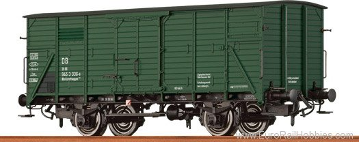 Brawa 67407 Covered Freight Car G 10 DB, Bauzugwagen