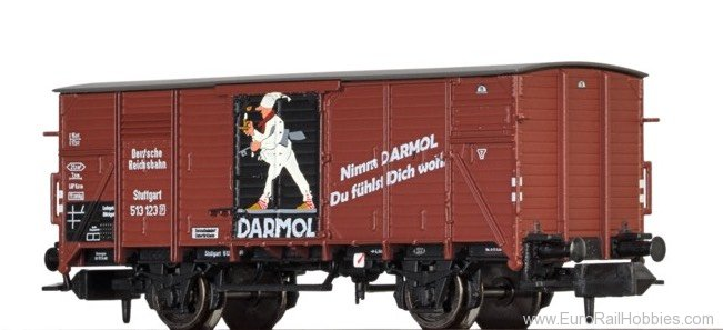 "Brawa 67418 Covered Freight Car G ""DARMOL"" DRG"
