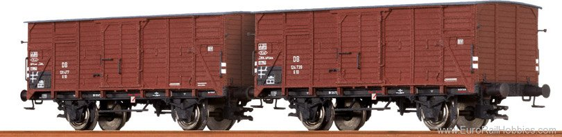 Brawa 67433 Covered Freight Cars G 10 DB, set of 2