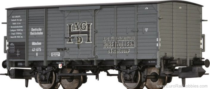 Brawa 67467 Covered Freight Car G Hohenzollern DRG