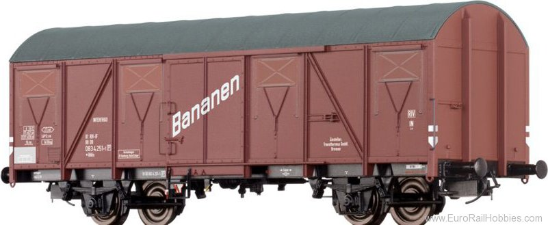 Brawa 67800 Refrigerator Car for bananas Ibbls Transtherm