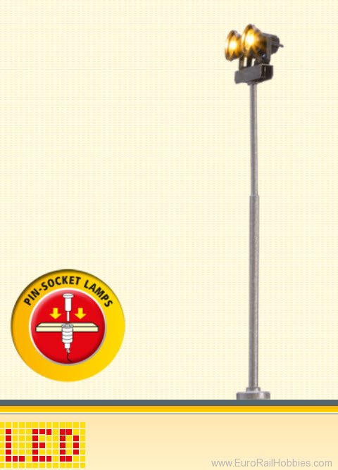 Brawa 83012 Floodlight, Double, Pin-Socket [old order no.