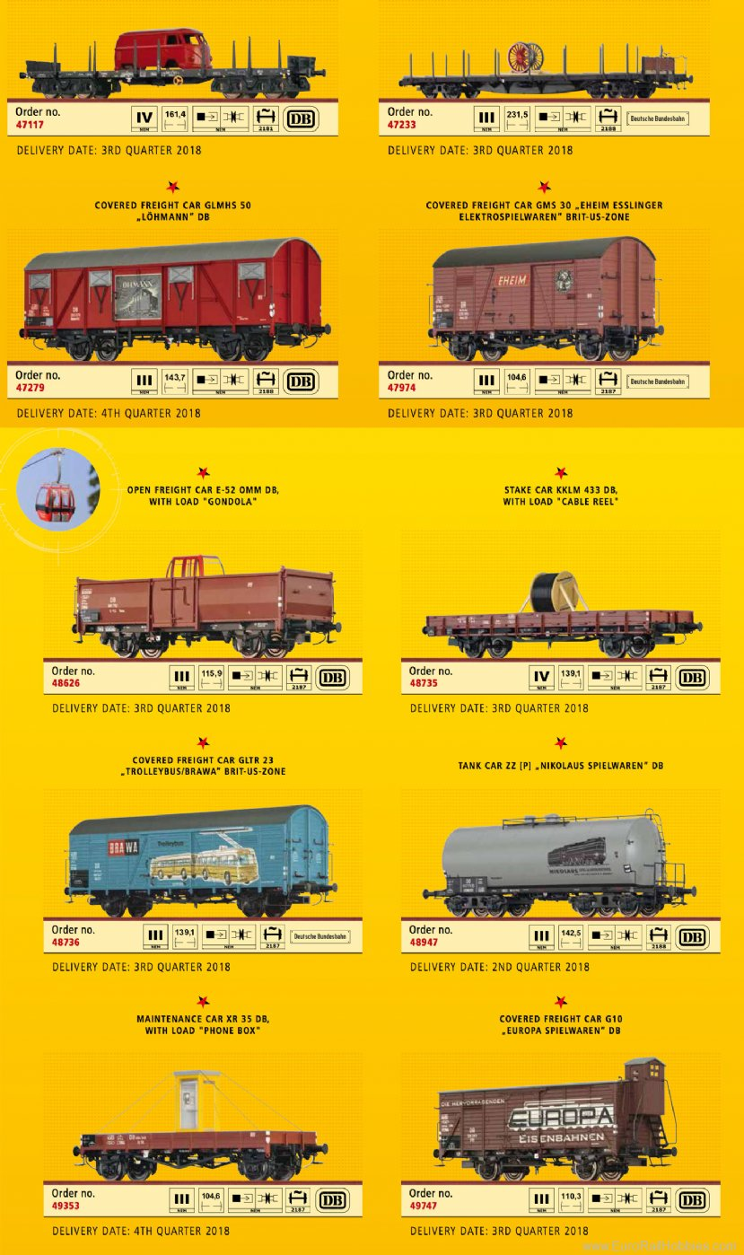Brawa b1801 70 Years of Brawa Freight Car Set 10pcs