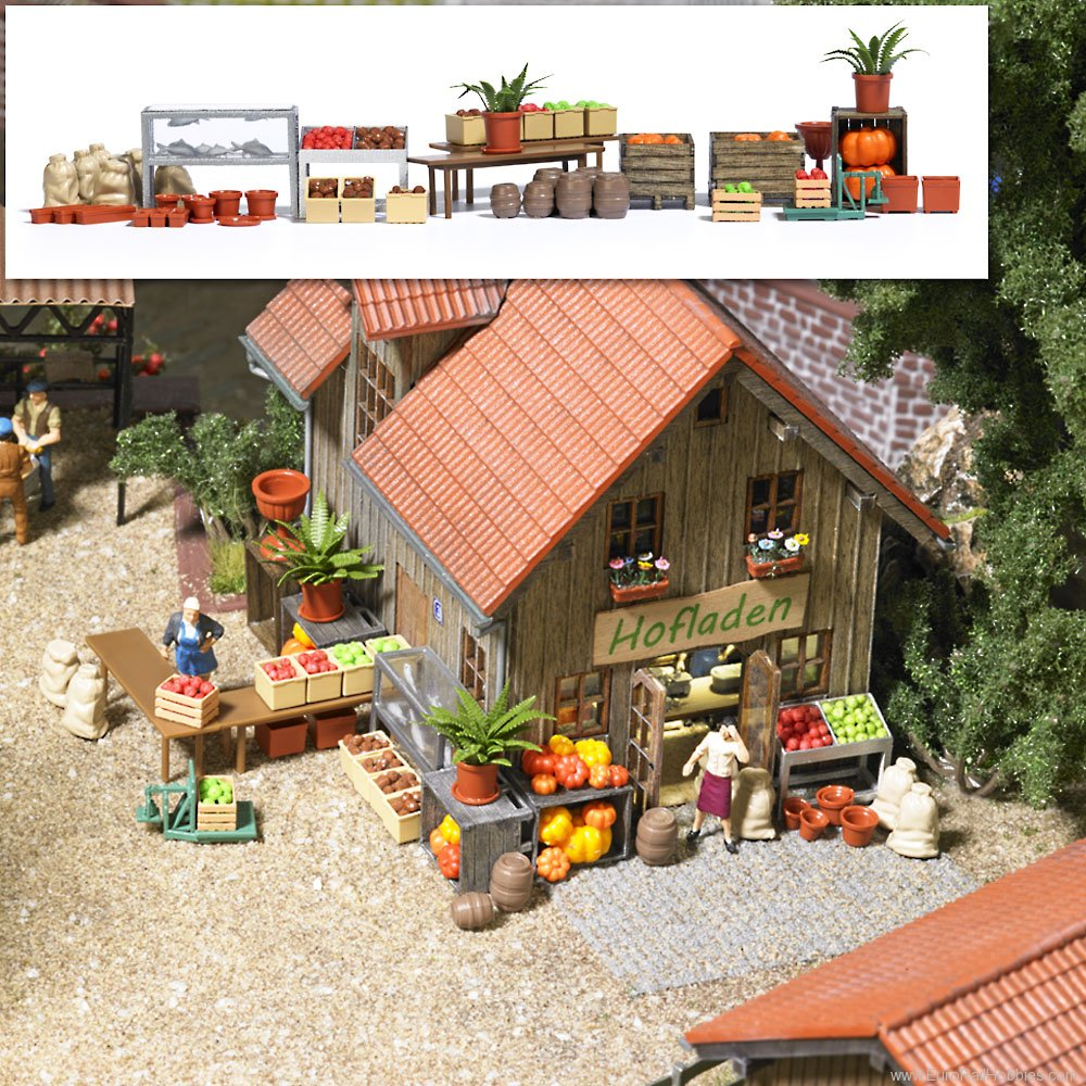 Busch 1075 Farm Shop Accessories