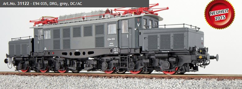 ESU 31122 Electric loco, E94 035, DRG, grey, Era II, So