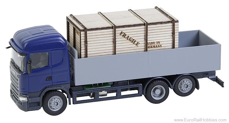 Faller 161597 Lorry Scania R 13 HL Platform with wooden cra