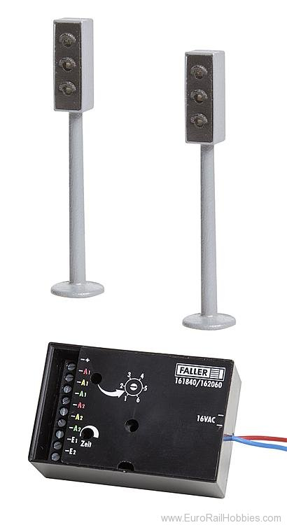 Faller 161840 2 LED Traffic lights with electronics