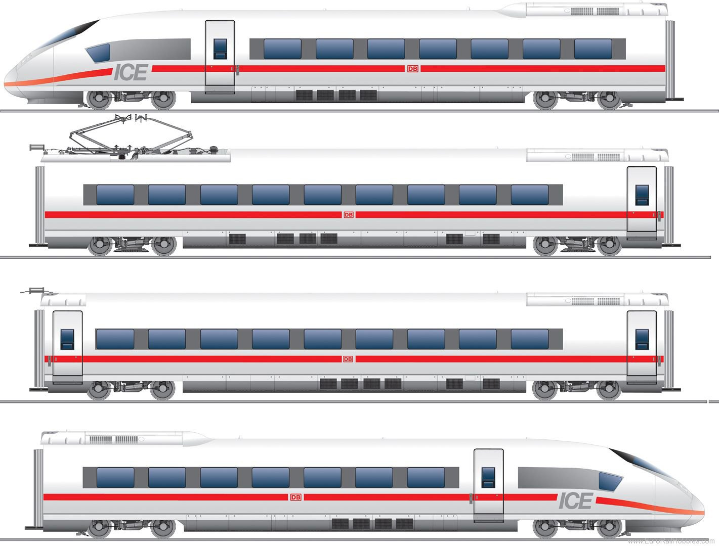 Fleischmann 398071 ICE multiple-unit train, BR 407, DB AG. (AC D