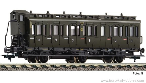 Fleischmann 507007 3rd class compartment car type C3 pr11, DRG