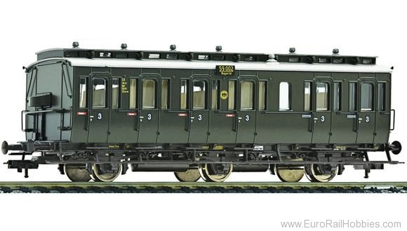 Fleischmann 507054 3 axle 3rd class compartment car type C3 pr 1
