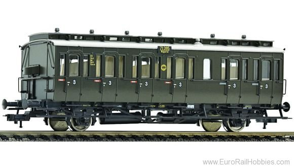 Fleischmann 507153 2-axle 3rd class compartment car type C3 pr 1