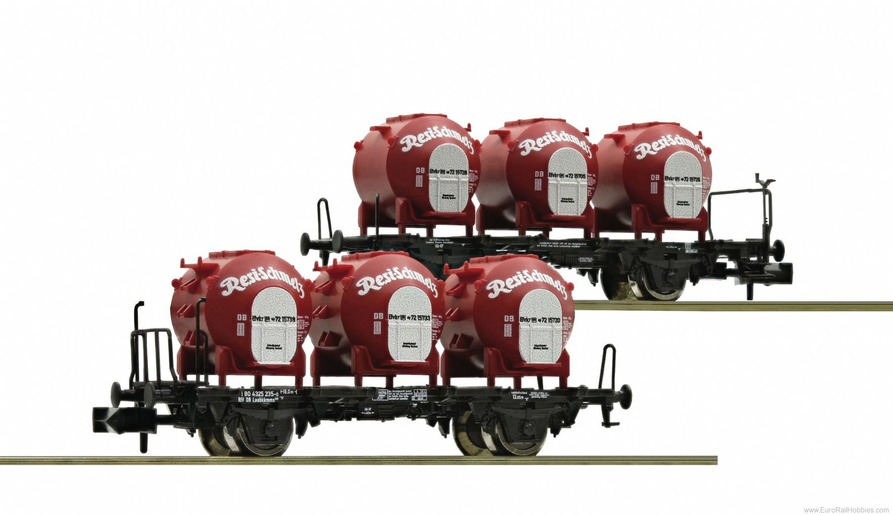 Fleischmann 823302 2 piece set container carrier wagons 'Resi-Sc