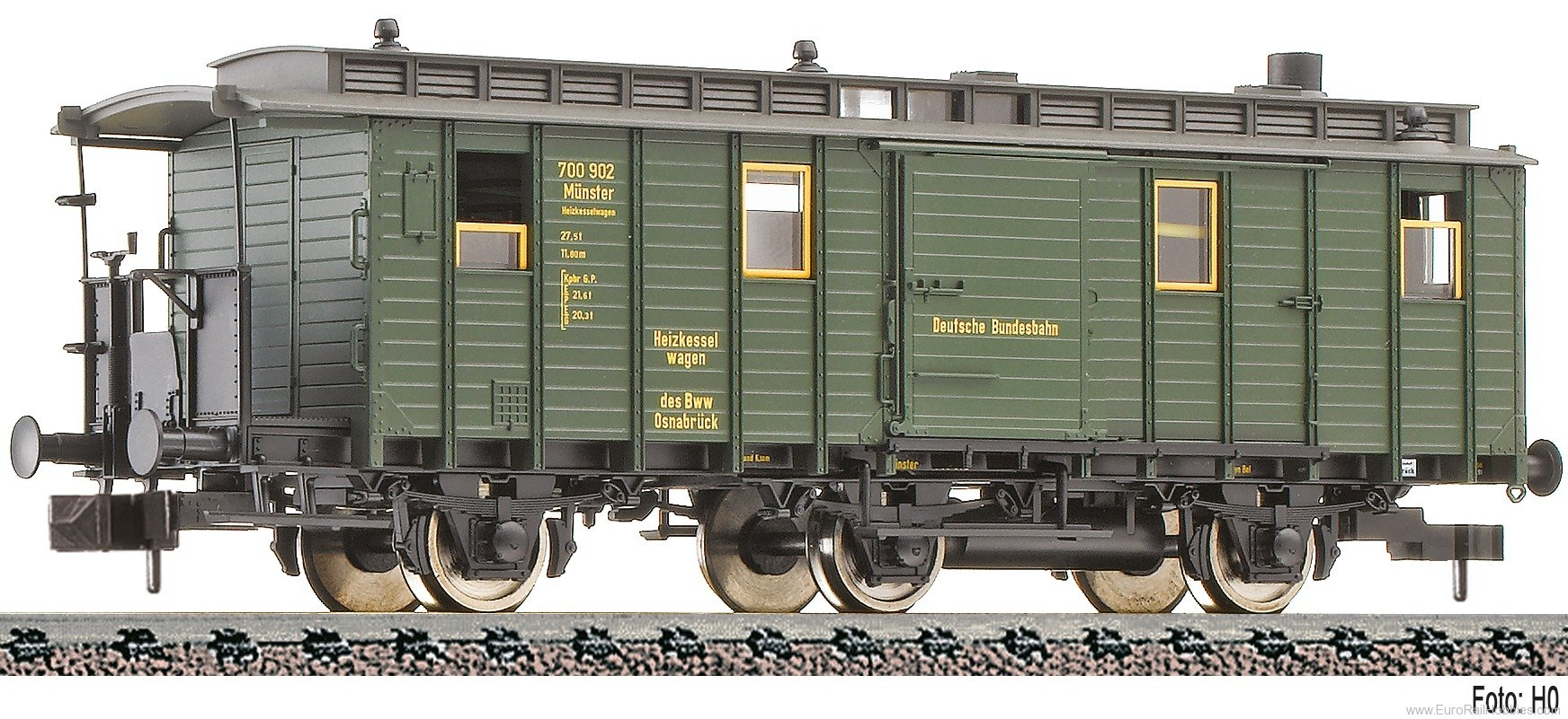 Fleischmann 838202 3-axle heating boiler wagon, type Heiz 3i pr