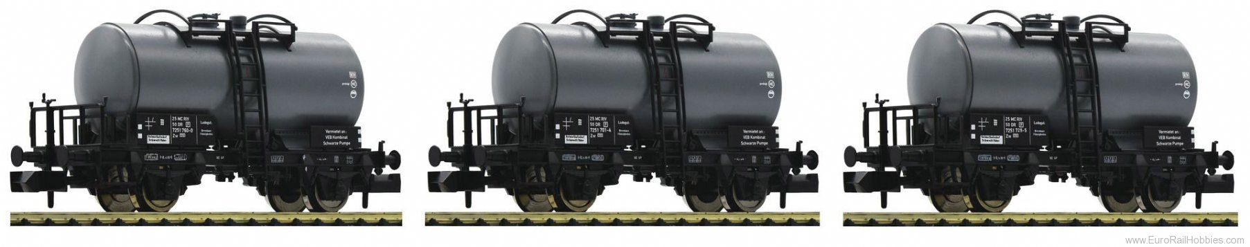 Fleischmann 841601 DR 3 piece set tank wagons type Z