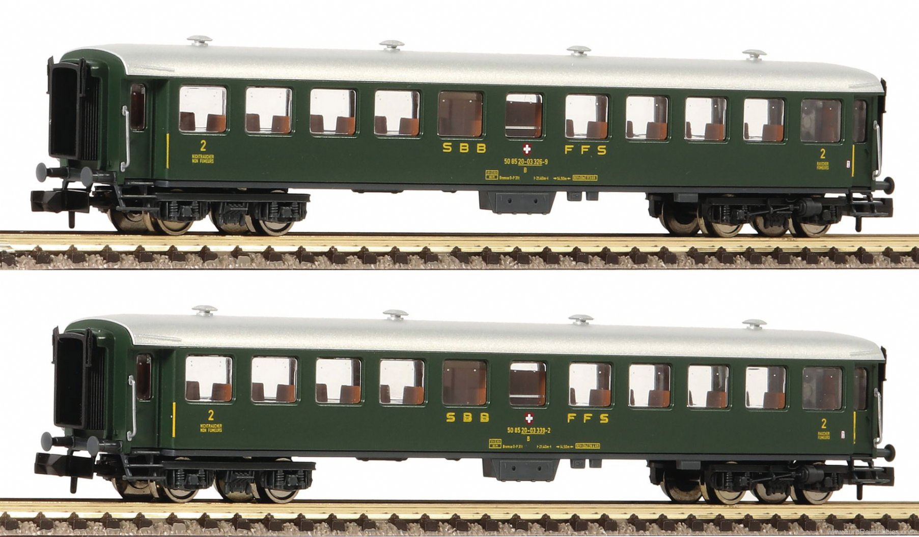 Fleischmann 881814 SBB 2 Piece Express Train Wagon Set
