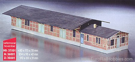 Heico 32001 Z Goods Shed 'Glowen' (Unpainted Resin Kit)