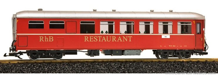 LGB 30523 RhB Dining Car, Car No. WR 3810