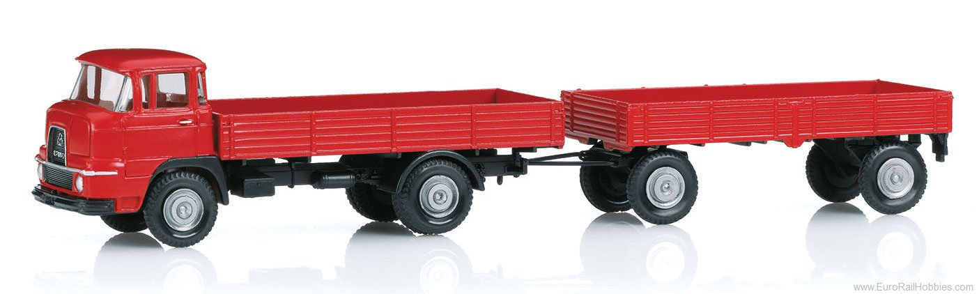 Marklin 18035 Krupp Flatbed Front Steering Truck with a Tra