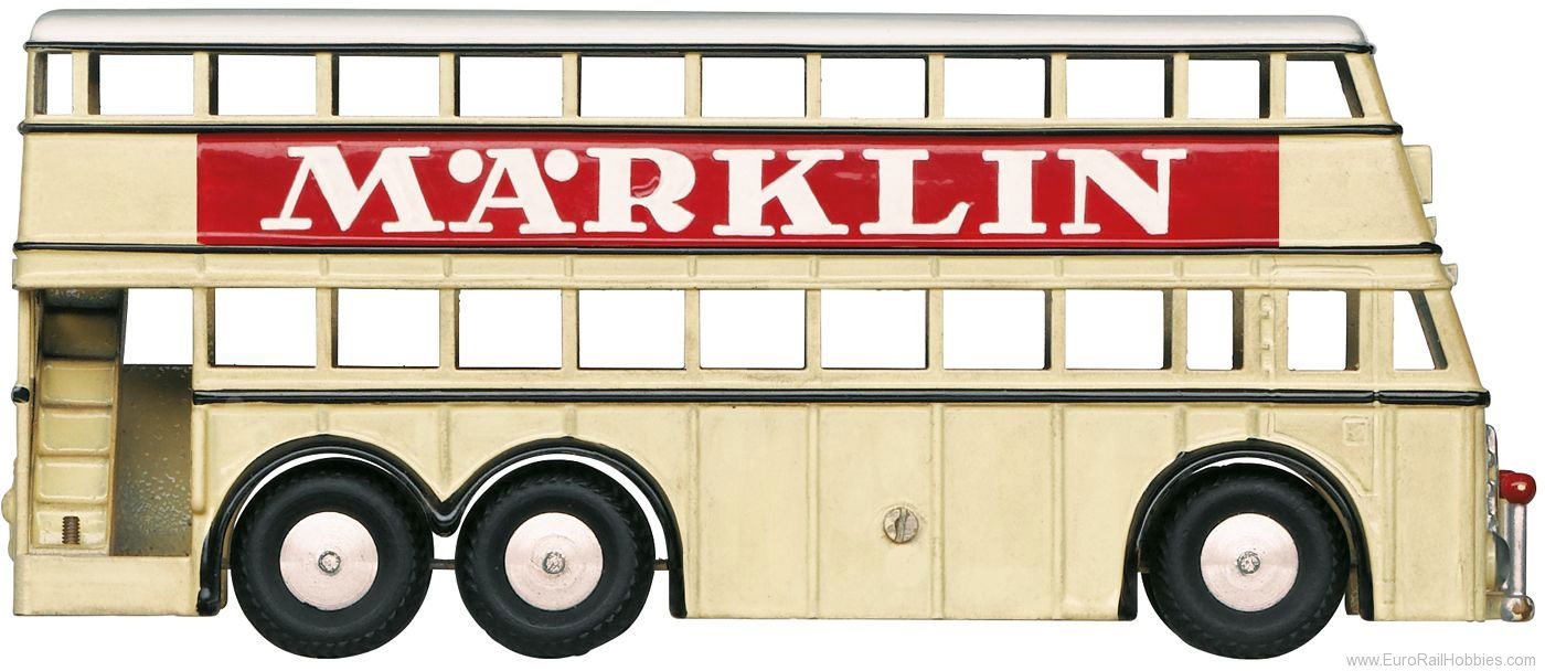 Marklin 18080 Double Decker Bus with 'Marklin' Advertising