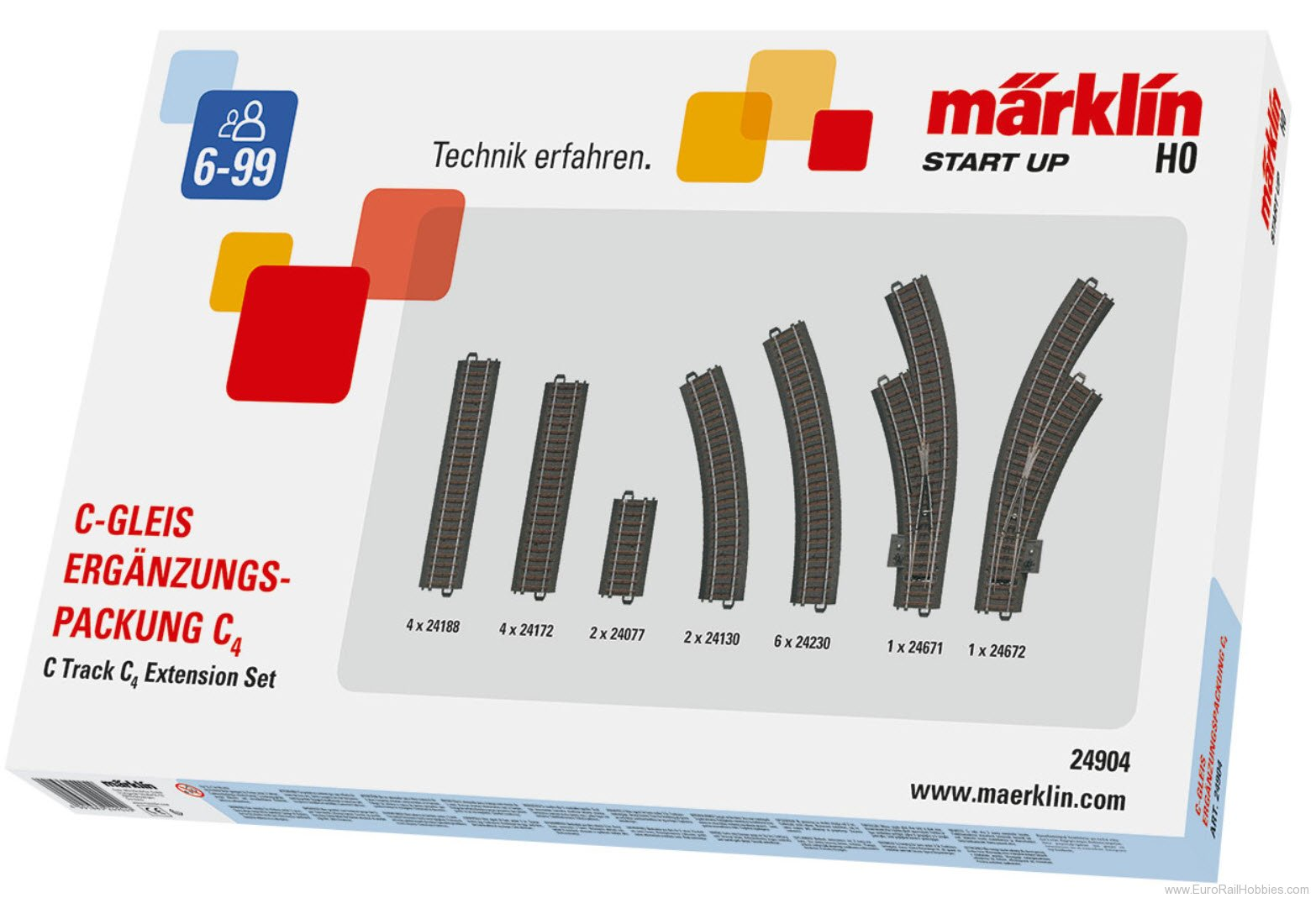 Marklin 24904 C TRACK C4 EXTENSION SET