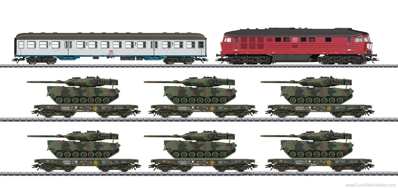 Marklin 26606 DB Freight Train with Military Freight for Ge
