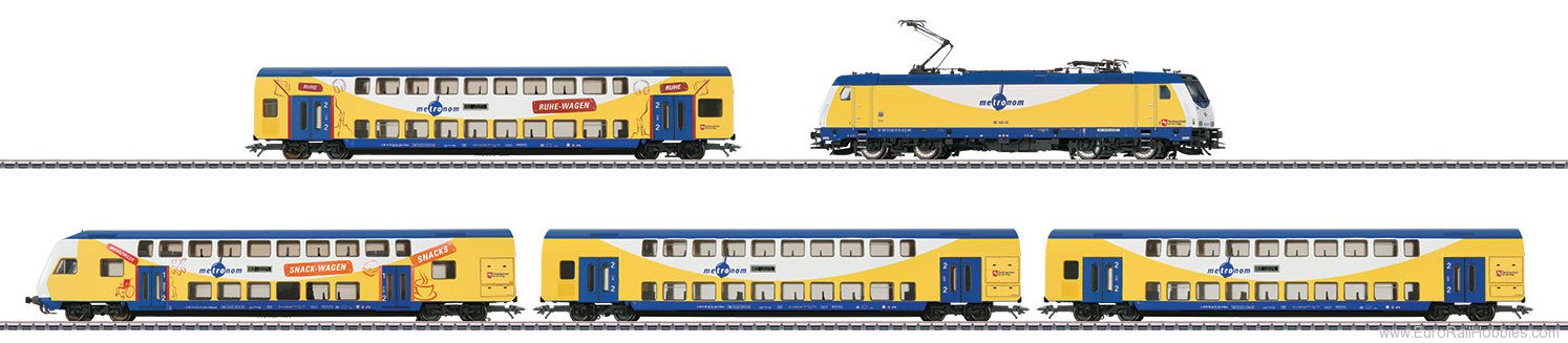 Marklin 26611 metronom Bi-Level Commuter Train Set MFX+ w/S