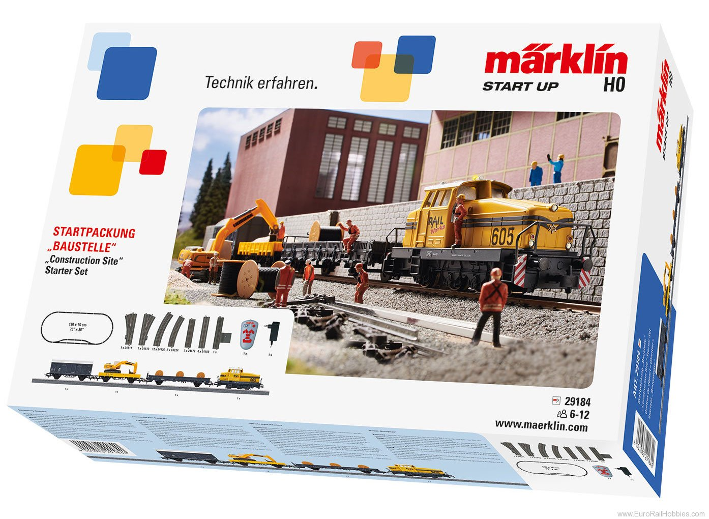 Marklin 29184 'Construction Site' Digital Starter Set w/IR