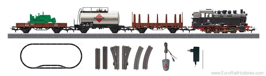 Marklin 29322 Digital Freight Train Starter Set with IR Con