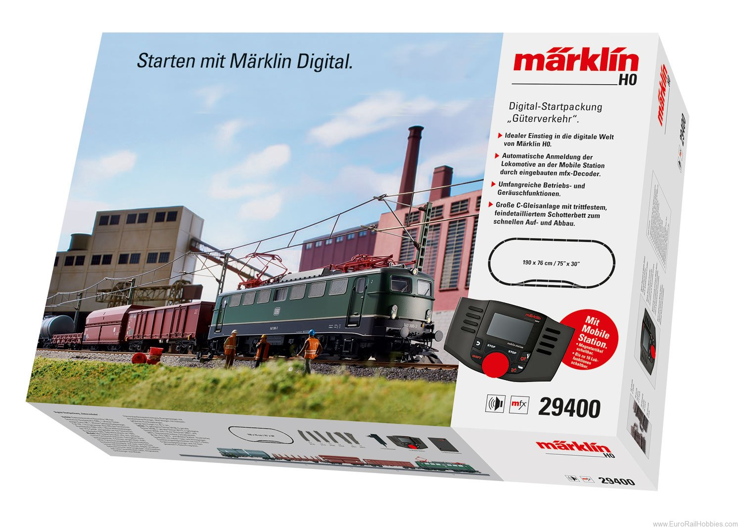 Marklin 29400 DB ''Freight Service'' Starter Set with Mobil