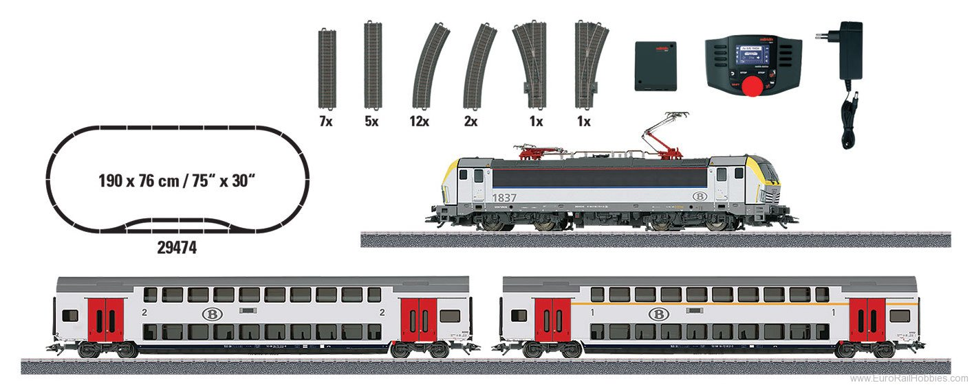 Marklin 29474 NMBC/SNCB ''Passenger Train'' Starter Set wit