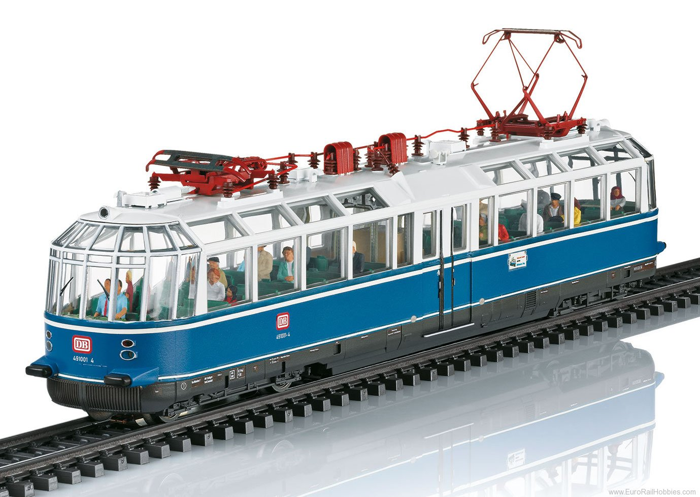 Marklin 37584 DB Class 491 Powered Observation Rail Car, MF