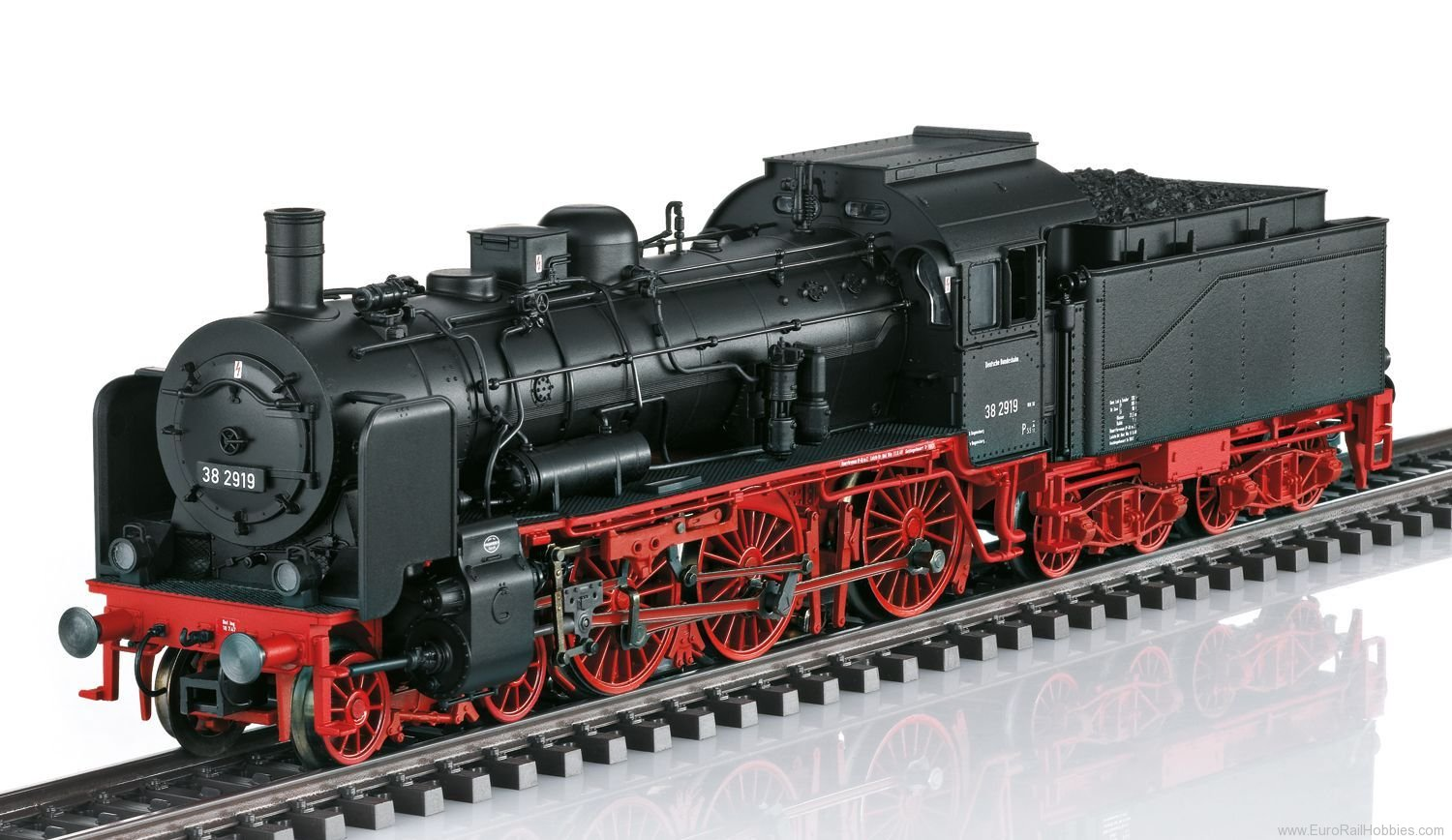 Marklin 39380 DB Class 38 Steam Locomotive MFX+ w. Sound (N