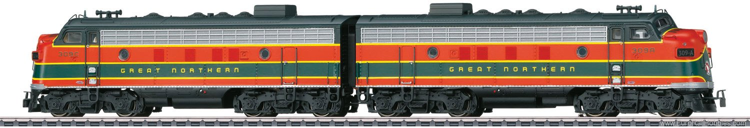 Marklin 39621 NYC Great Northern AA F7 Diesel Electric Loco