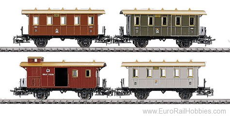 Marklin 4035 PRUSSIAN TRAIN CAR SET     94