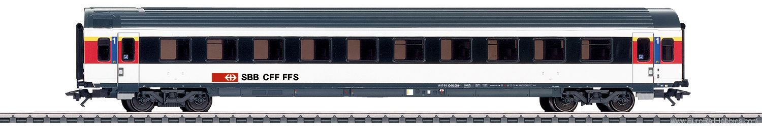 Marklin 42155 SBB Express Train Passenger Car, IC-Design