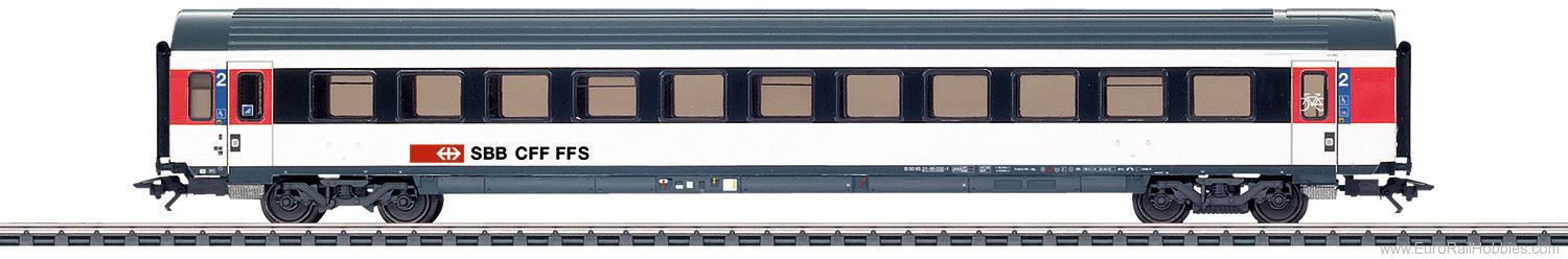 Marklin 42156 SBB Express Train Passenger Car, IC-Design