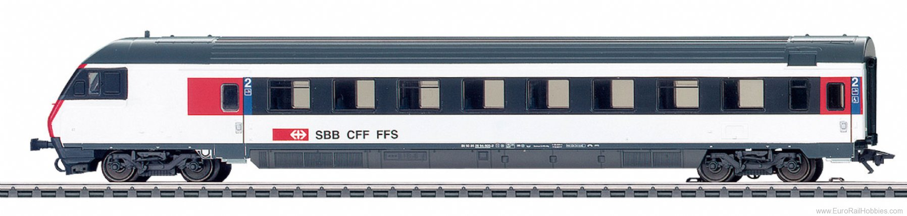 Marklin 42179  SBB Express Train Cab Control Car, IC-Design