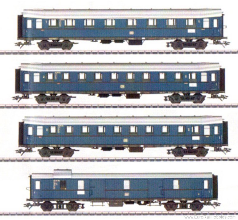 Marklin 42228 DB Express Passenger 4 Piece Coach Set in Ste